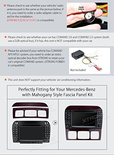 XTRONS Android 6.0 Octa-Core 64Bit 7 Inch Capacitive Touch Screen Car Stereo Radio DVD Player GPS CANbus Screen Mirroring Function OBD2 Tire Pressure Monitoring for Mercedes-Benz S-Class W220 by XTRONS (Image #4)