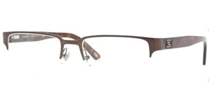 2540559e0a0 Versace Men s VE1184 Eyeglasses Brushed Brown 53mm   Cleaning Kit Bundle