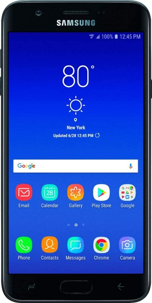 Verizon Prepaid Galaxy J7 2nd Generation 16GB Samsung Smartphone, Black Color - Locked to Verizon Wireless, No Annual Contract