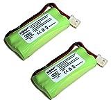 HQRP Phone Battery 2-Pack for VTech CS6328 CS6328-2 CS6328-3 CS6328-4 CS6328-5 CS6329 CS6329-2 CS6329-3 CS6329-4 CS6329-5 LS6325 LS6325-2 LS6325-3 LS6325-4 LS6325-5 Cordless Telephone + Coaster