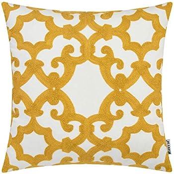 Amazon.com: HWY 50 fundas de almohada decorativas bordadas ...
