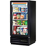 True GDM-10-LD Series Glass Swing Door One Section Reach-In Merchandiser Refrigerator