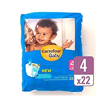 Carrefour Bebé Tirón Seco De Ultra En El Tamaño Del Equipaje De 4 Paquete De 22 Por Paquete: Amazon.es: Bebé