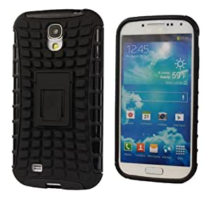 Tough Rugged Dual Layer Protection Case Cover with Kickstand for Samsung Galaxy S4 i9500 Black