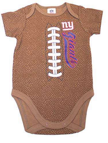 - NFL New York Giants Unisex-Baby Football Bodysuit, Brown, 3-6 Months