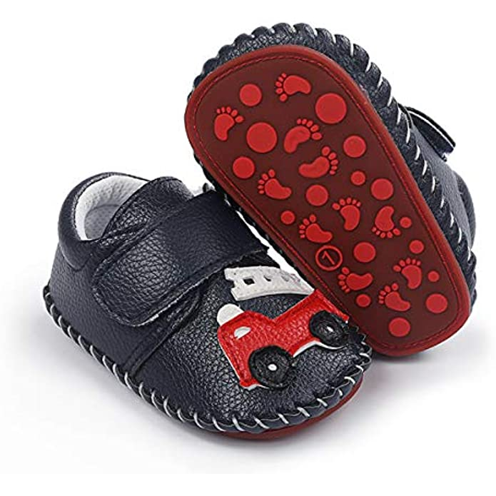 ENERCAKE Baby Boys Girls Shoes Soft Sole Walking Sneakers Cartoon Moccasins Crawling Slippers Infant Toddler Crib First Walkers