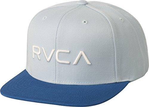 RVCA Men's Twill Snapback Hat, Light Blue, ONE Size ()