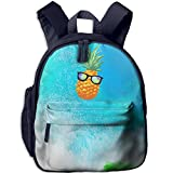 Pineapple With Sunglasses 3D Print Girl Fashion Book Bags