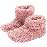 mianshe Mens and Women's Cozy Bootie Slippers with Memory Foam for Indoor/Outdoor Dusty Pink