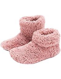 Mens and Women's Cozy Bootie Slippers with Memory Foam for Indoor/Outdoor