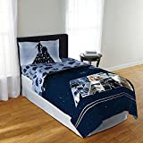 Star Wars Twin Bed Comforter and Sheet Set - 4 Pieces Includes Reversible Comforter, Flat Sheet, Fitted Sheet, and 1 Standard Sized Pillowcase Bundle