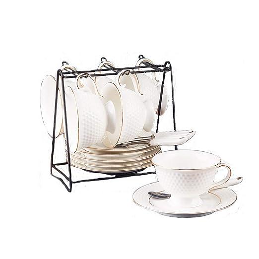 Whygry Juego de Taza de café de cerámica, Taza Resistente al Calor ...