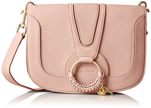 Crossbody Goatskin Leather Nude By Chloe Medium See Hana Women��s A0wR4