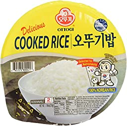 Ottogi Fresh Cooked White Rice, 7.40 Ounces (Pack of 12)