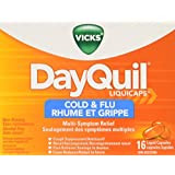 Vicks Dayquil Cold & Flu Liquid Capsules 16Ct- Packaging May Vary