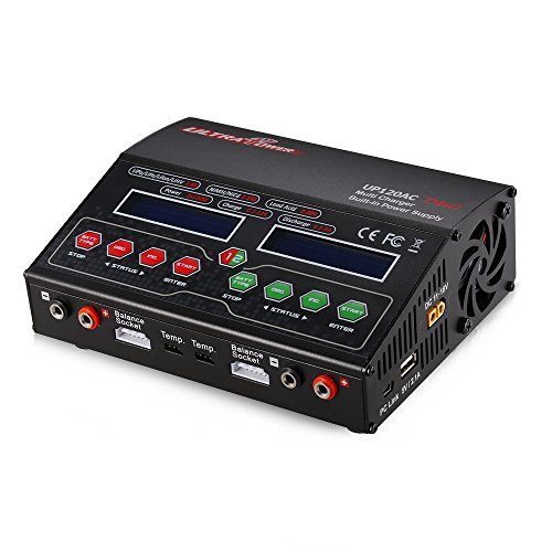 Goolsky Ultra Power UP120AC DUO 120W/120W LiIo/LiPo/LiFe/NiMH/NiCD Battery Multi Balance Charger/Discharger by Goolsky