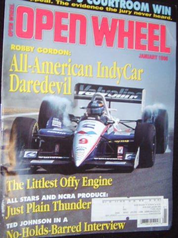 Open Wheel Magazine (January, 1996) (Robby Gordon Wheels)