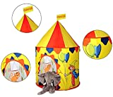 Play House - Bright Colorful Carnival Circus Pop up Play Tent House - Castle Play Tent for Girls & Boys – Great for Indoor & Outdoor Children Play Activities by Shuban - Yellow Color