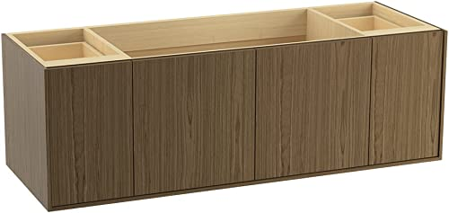 KOHLER K-99546-1WM Jute 60-Inch Vanity with 2 Doors and 2 Drawers, Walnut Flax