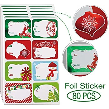 amazon com joyousa christmas gift name tags stickers 60 piece