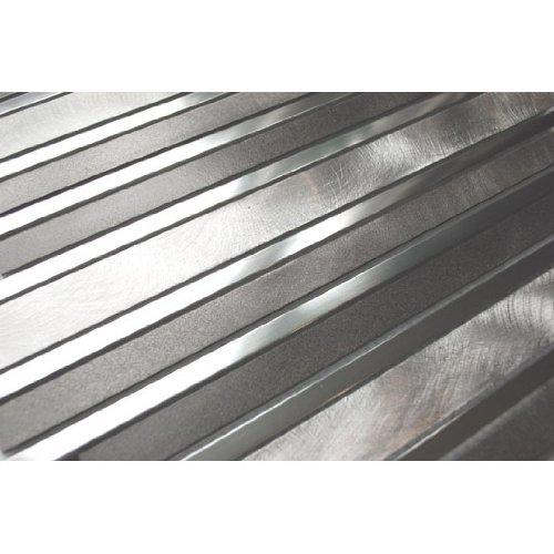 Long Random Bar Silver Pewter And Chrome Aluminum Tile - Kitchen Backsplash/Bath Backsplash/Wall Decor/Fireplace Surround