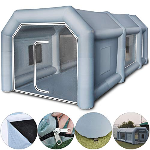 Paint Booth 13x8x7ft Inflatable Spray Booth with Filter System Portable Car Paint Booth for Car Parking Tent Workstation ()