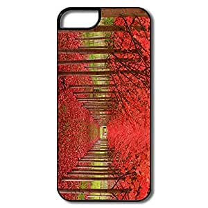 Custom Make Funny Bumper Case Nature Climate Season Red Autumn Trees IPhone 5/5s Case For Her