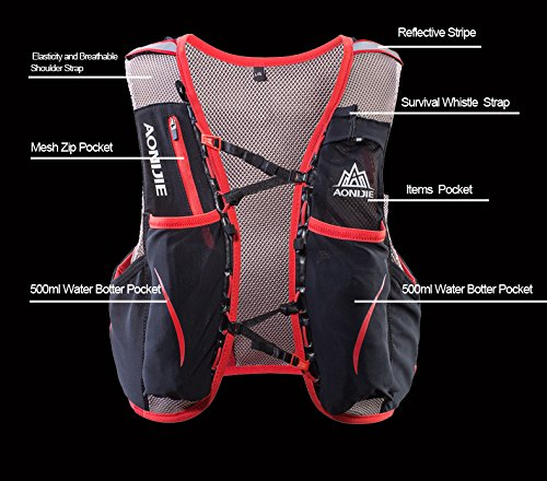 Amazon.com : Lovtour Hydration Pack Backpack/Hydration Vest Race Vest for Marathoner Running Race Cycling Hiking Camping Biking (Black (L-XL) - Only ...