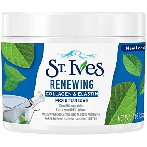 St Ives Renewing Collagen and Elastin Moisturizer, 10 Ounces (Pack of 3) (Packaging May Vary)       (St Ives Timeless Skin Collagen Elastin Facial Moisturiser)