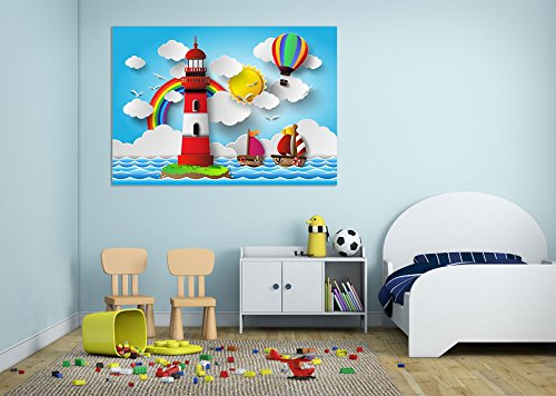 "3D Watch Tower Cartoon 738 Wall Stickers Vinyl Wall Murals Print Decal Art | Self-adhesive Large Wall Stickers, AJ WALLPAPER US Seven (Vinyl (No Glue & Removable), 【19.7"" x 19.7""】50x50cm(WxH) )"