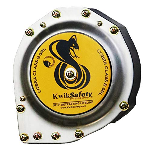 KwikSafety (Charlotte, NC) 20' COBRA Self Retracting Lifeline | Cable | ANSI Class B SRL w/Steel Carabiner Locking Clip Snap Hook | Roofing Construction Personal Fall Arrest Protection Safety Yoyo by KwikSafety (Image #1)