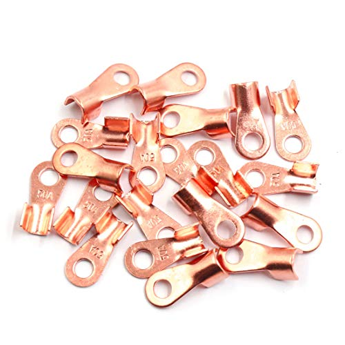 Sourcingmap 20pcs 50A Copper Ring Terminals Lug Battery Cable Connector: