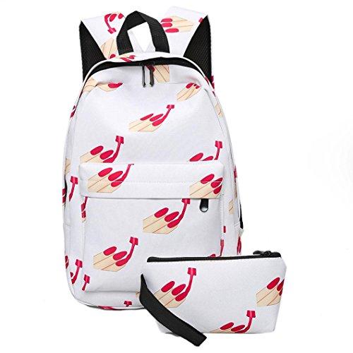 Rawdah Las muchachas de las muchachas de las mujeres imprimen la mochila de la cremallera D
