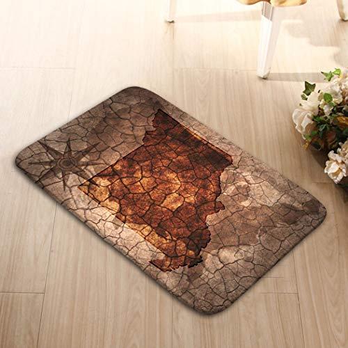 - zexuandiy Non-Slip Doormat Non-Woven Fabric Floor Mat Indoor Entrance Rug Decor Mat (23.6