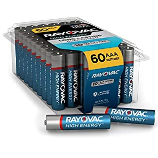 Rayovac AAA Batteries, Alkaline Triple A Batteries (60 Battery Count)