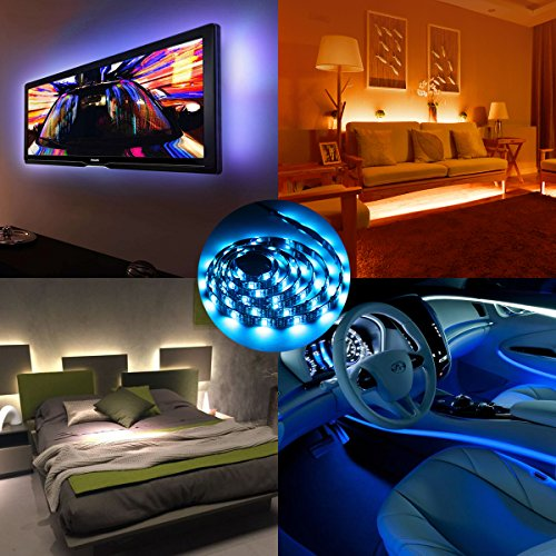 AMIR-LED-Light-Strip-19-Modes-20-Colors-RGB-Lights-with-Remote-Control-60-LED-Changing-Color-Strip-Kit-Accent-Light-SetBias-Lighting-for-HDTV-PC-Monitor-Flat-Screen-TV-2M-787in