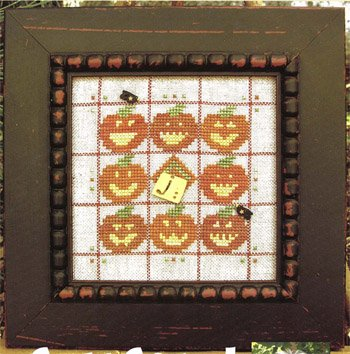 (Alphabet Baubles-J Is For Jack O Lantern Cross Stitch Chart)