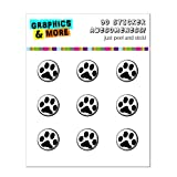 Graphics and More Paw Print - Black White Home Button Stickers Fits Apple iPhone 4/4S/5/5C/5S, iPad, iPod Touch - Non-Retail Packaging - Clear