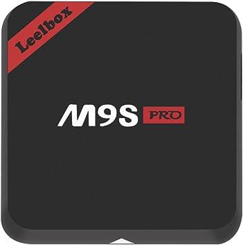 Versión Pura]Leelbox M9S Pro Android TV Box Smart TV Box 2GB RAM+16GB ROM Octa-Core LAN 1000M Dual-WIFI 2.4Ghz/5.0Ghz: Amazon.es: Electrónica