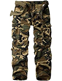 Women's Casual Loose Fit Camouflage Multi Pockets Cargo Pants
