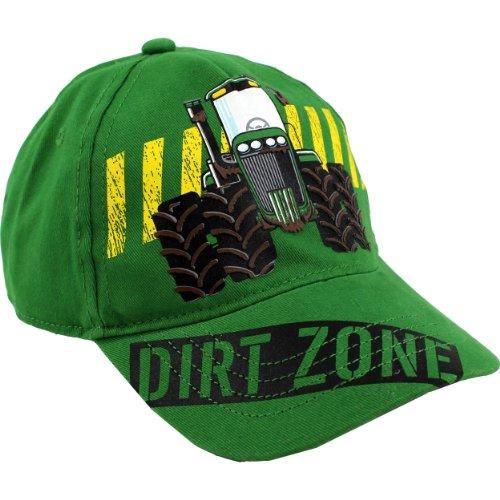 "John Deere ""Dirt Zone"" Green Toddler Baseball Cap Hat"