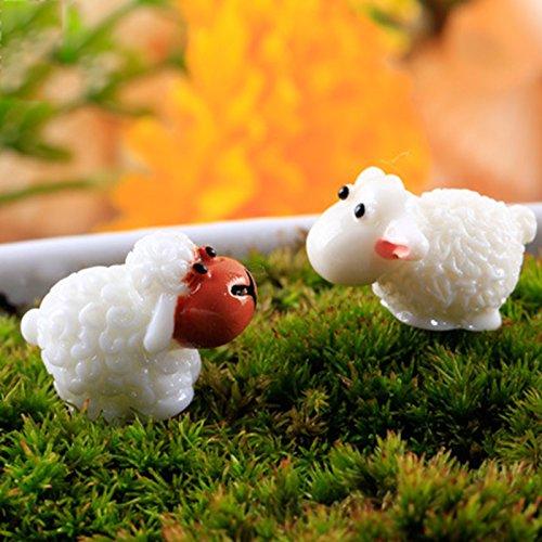 Da.Wa 10 x Micro Landscape Scenery Landscape Model Animal Sheep Shape Model Railway Scenery DIY Decoration Ornaments Accessories