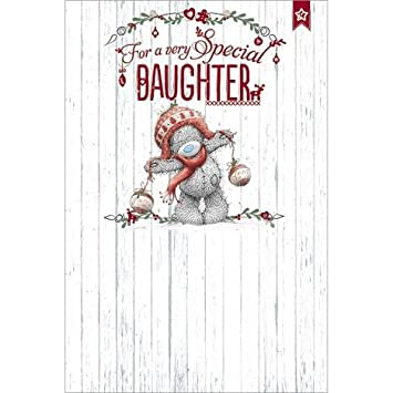 Me To You Bear Special Daughter My Dinky Christmas Card