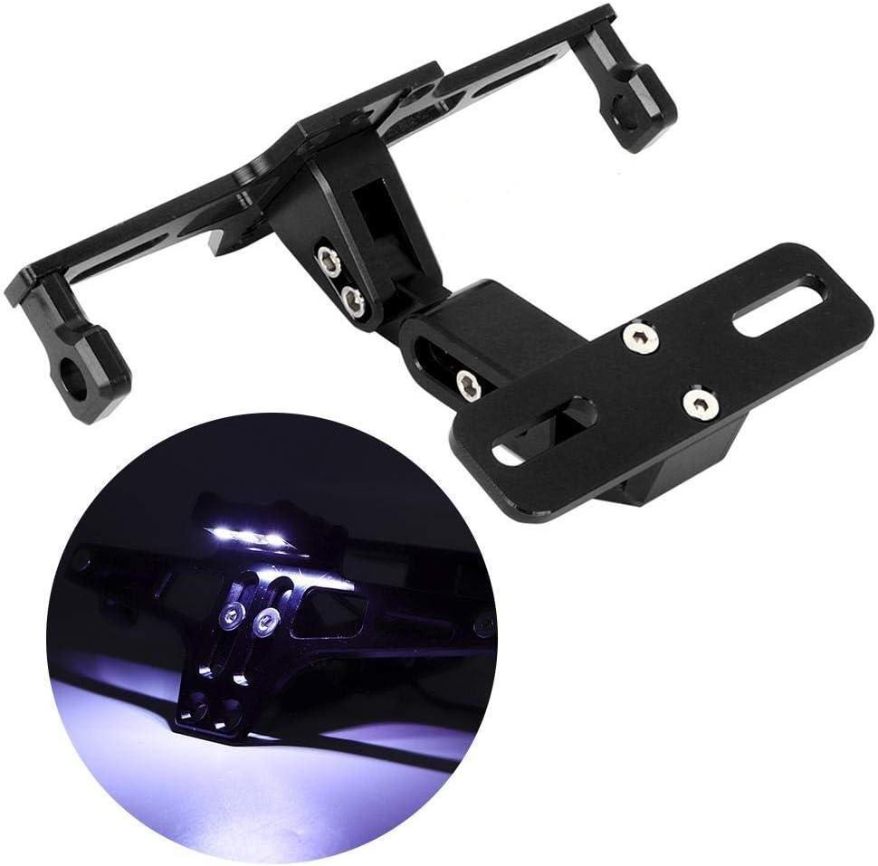 Dingln Verstellbare Teleskop Aluminum Alloy Bracket Kennzeichenhalter Mit Licht for Motorrad