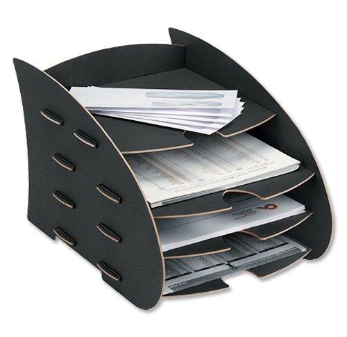 Fellowes 8010601 Earth Briefkorb, schwarz