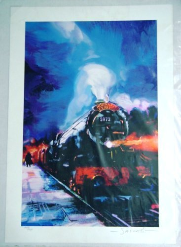 Lithograph Rare Art (Harry Potter Poster Hogwarts Express Fine Art Giclee Print Lithograph SIGNED by artist Salvati with C Of A Limited Edition)