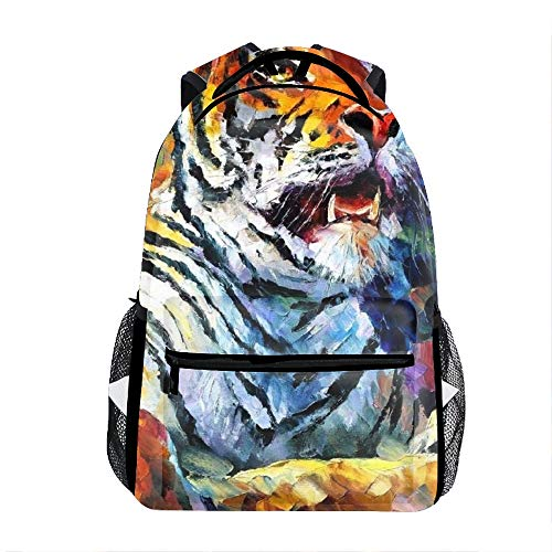 Majestic Tiger Casual Backpack Bag, Fashion Lightweight Backpacks for Teen Young Girls