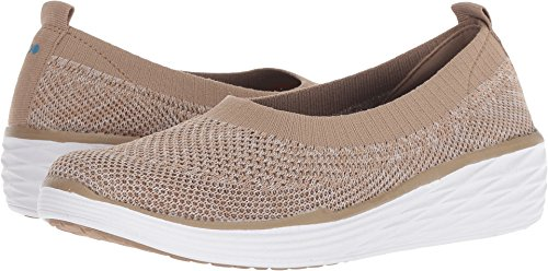 250 Die - Ryka Women's Nell Walking Shoe, Taupe/White, 7 W US