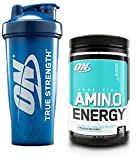 Optimum Nutrition Essential Amino Energy for Focus + Muscle Recovery | Blueberry Mojito Flavor 30 Serv + ON Logo Blender Bottle (28oz)
