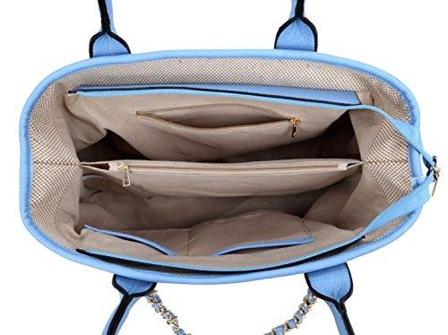 Para Mujer De Material Handbags Azul Asas Girly Sintético Bolso Tq4w7Y